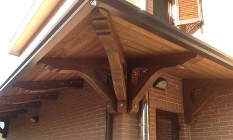 tettoie in legno roma