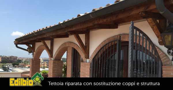 riparazione tettoia pericolante a roma
