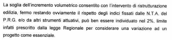 estratto TUE permessi Verande Roma