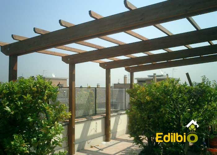 Tende Pergolati Roma : Pergole roma realizzazione pergole in legno da giardino