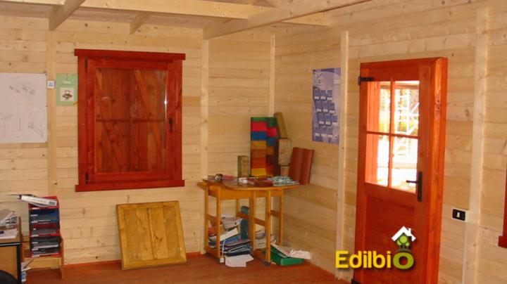 interno del pefabbricato in legno Realizzato a roma in via nomentana da Edilbio
