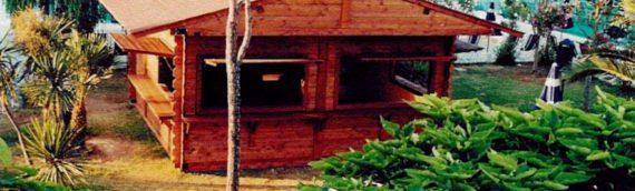 Realizzazione chiosco bar in legno marina militare