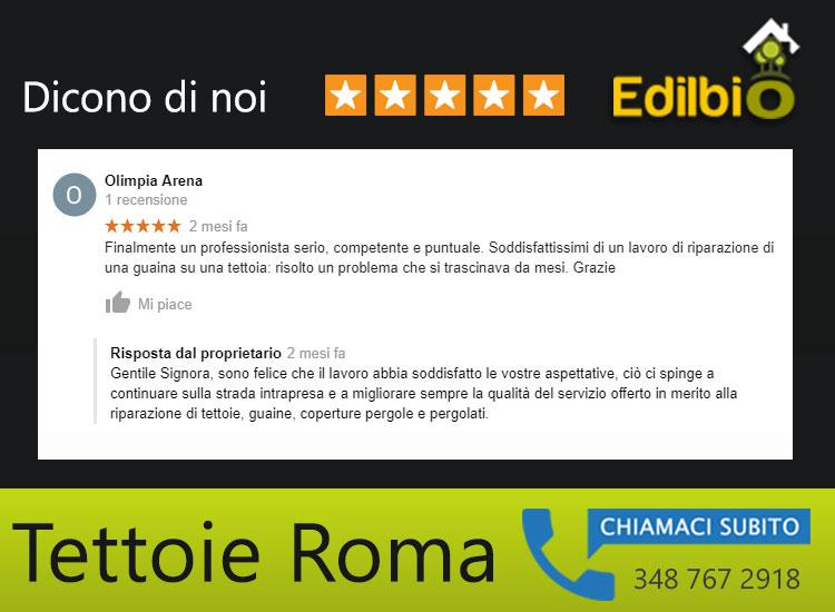 riparazione tettoie roma recensione