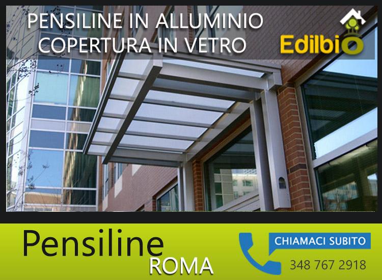 pensiline in alluminio roma edilbio