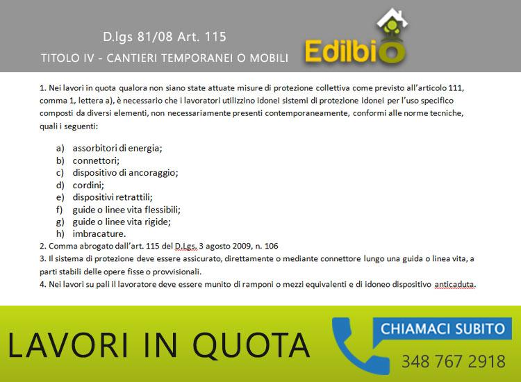 lavori in quota articolo 115 decreto legislativo 81 2008