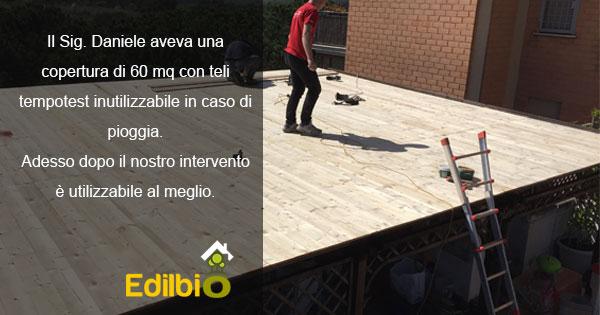 riparazione tettoie in legno roma anti pioggia