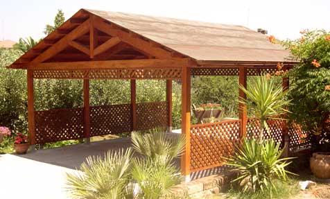 copertura in legno roma
