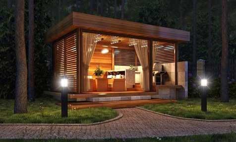 gazebo in legno roma