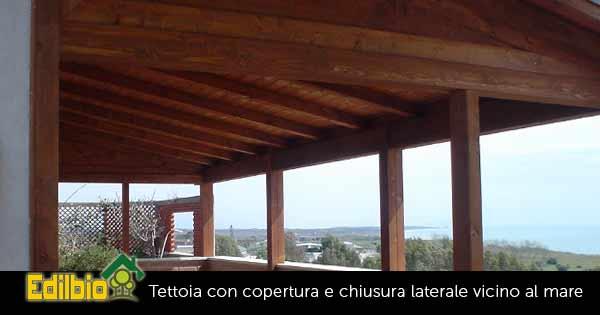 tettoia in legno per terrazzo