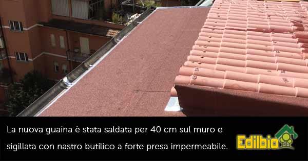 riparazione tettoia roma guaina sostituita