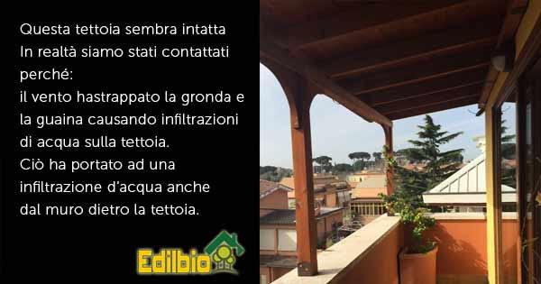 ntervento riparazione guaina tettoia roma