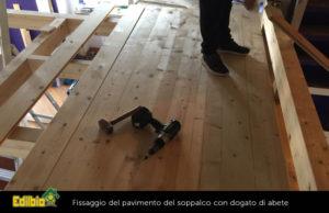 fissaggio-pavimento soppalco su misura a roma