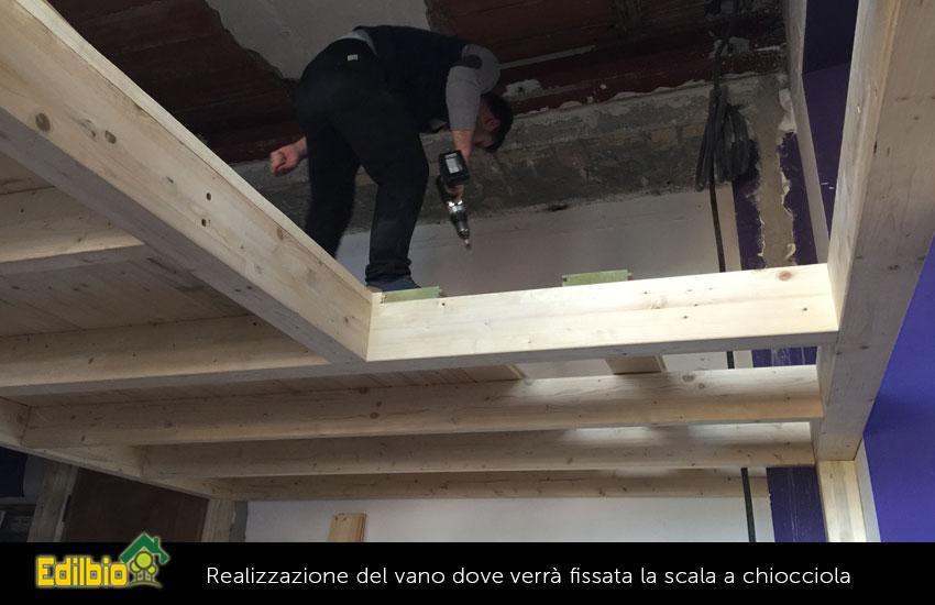 realizzazione-vano-scala-a-chiocciola soppalco su misura a roma