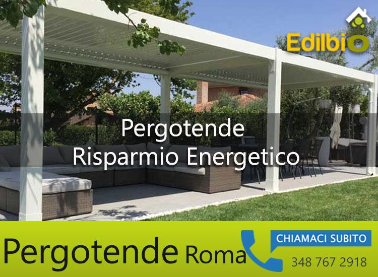 pergole bioclimatiche roma efficientamento energetico